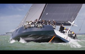 Leopard takes monohull line honours in the J. P. Morgan Asset Management Round the Island Race course
