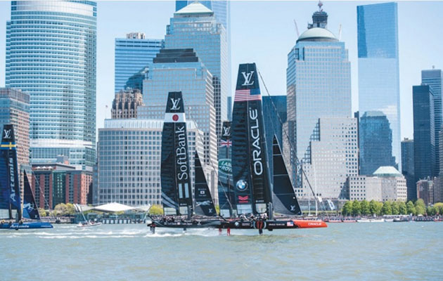 The New York City edition of the America's Cup World Series was frustrating for the sailors with conditions disrupted by the huge skyscrapers on the Manhattan shoreline