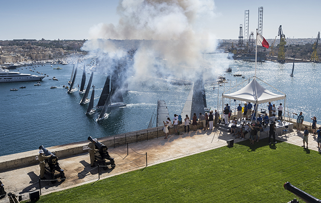 Start of the 2016 Middle Sea Race