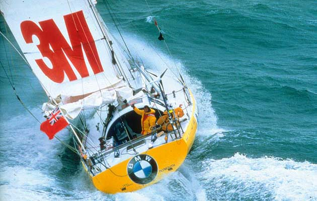 """46. Aqua Quorum. 1996, Adrian Thompson: """"Pete Goss sailing Aqua Quorum, an Open 50, in the 1996 Vendée Globe became the first to sail round the world with a canting keel,"""" comments solo sailor Dee Caffari. """"From this moment the world stopped questioning the canting keel concept. We agree that there are risks and, as a result, many races have adopted the one-design rule to try and reduce the risk factor, but no one has moved away from the extra stability and power this design can produce."""""""