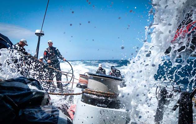 """""""If we had had a somewhat faster [weather] system we could easily take another ten hours off the record. But then it is kind of like playing with fire"""" - Comanche boat captain, Casey Smith."""