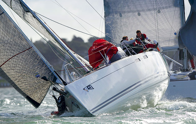 Man overboard from Little Britain Challenge 2015. Pic by Paul Wyeth