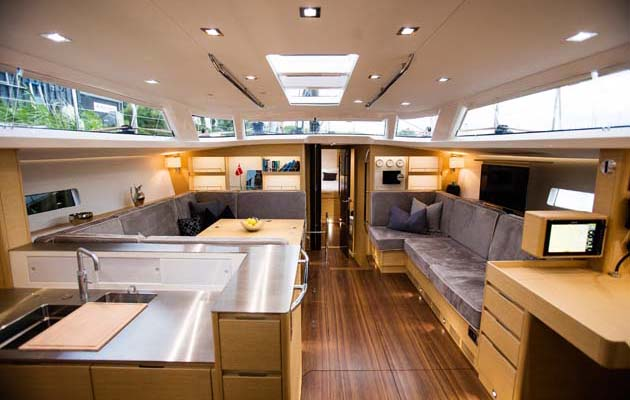 The Interior Of The X6 Sparkles With Natural Light, Her Design And Layout  Outshining All Other Recent Production Yachts.