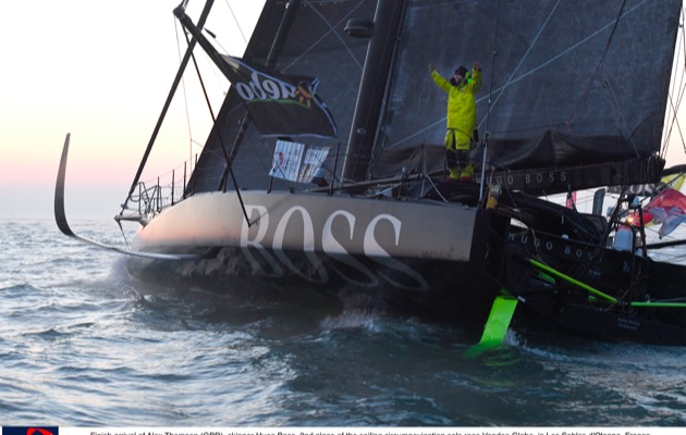 Alex Thomson finishes the Vendée Globe 2016/7
