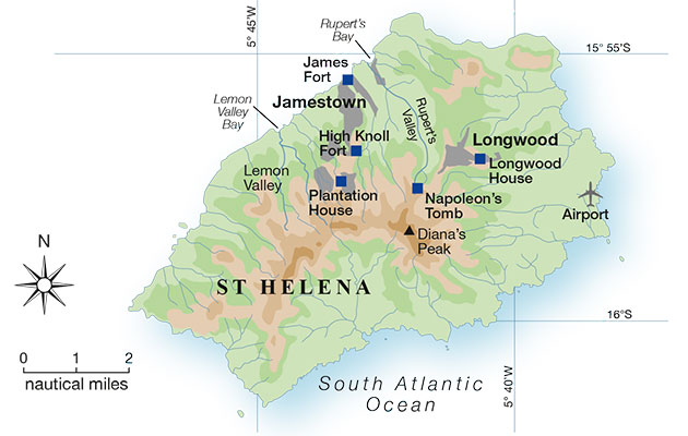 Sailing To Saint Helena One Of The Worlds Most Remote Communities - Saint helena map