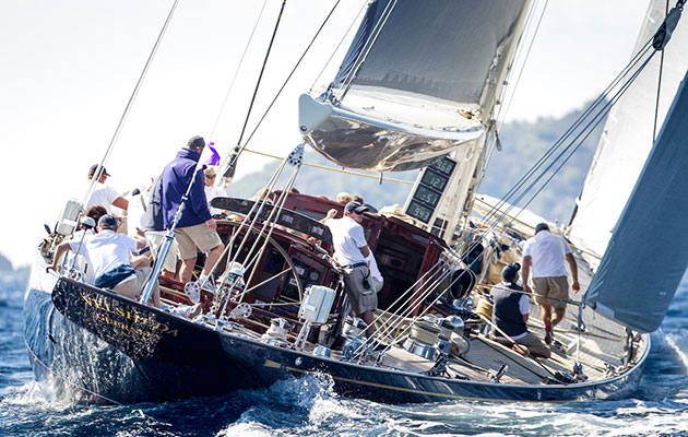 Velsheda at 2016 Les Voiles de St Tropez. Photo Maria Muina.