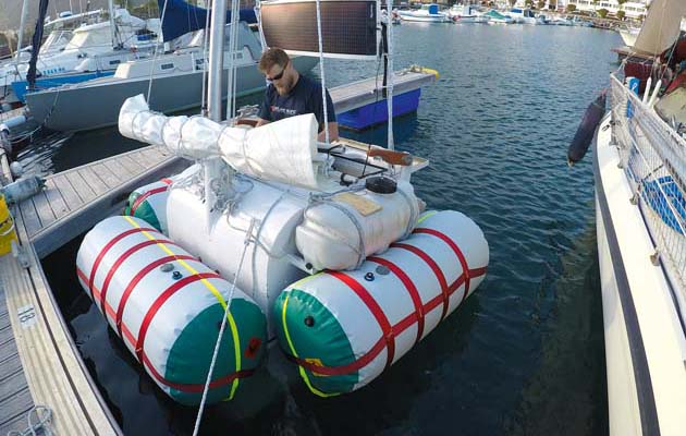 Rather Than Carry A Liferaft Undaunted Has Its Own Emergency Flotation System I Had White Water Raft Company Make Three Inflatable Tubes That Will Be