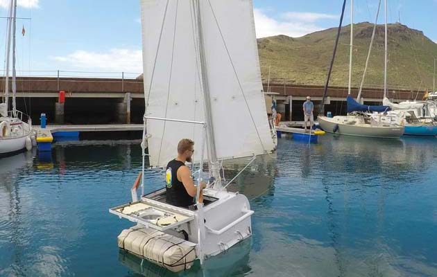 Matt Kent Age 33 Turned Back Just 24 Hours Into His First Attempt To Sail Across The Atlantic Aboard Stern Faced Tub Undaunted