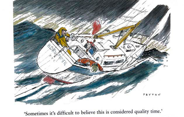Mike Peyton on learning to sail – an extract from his