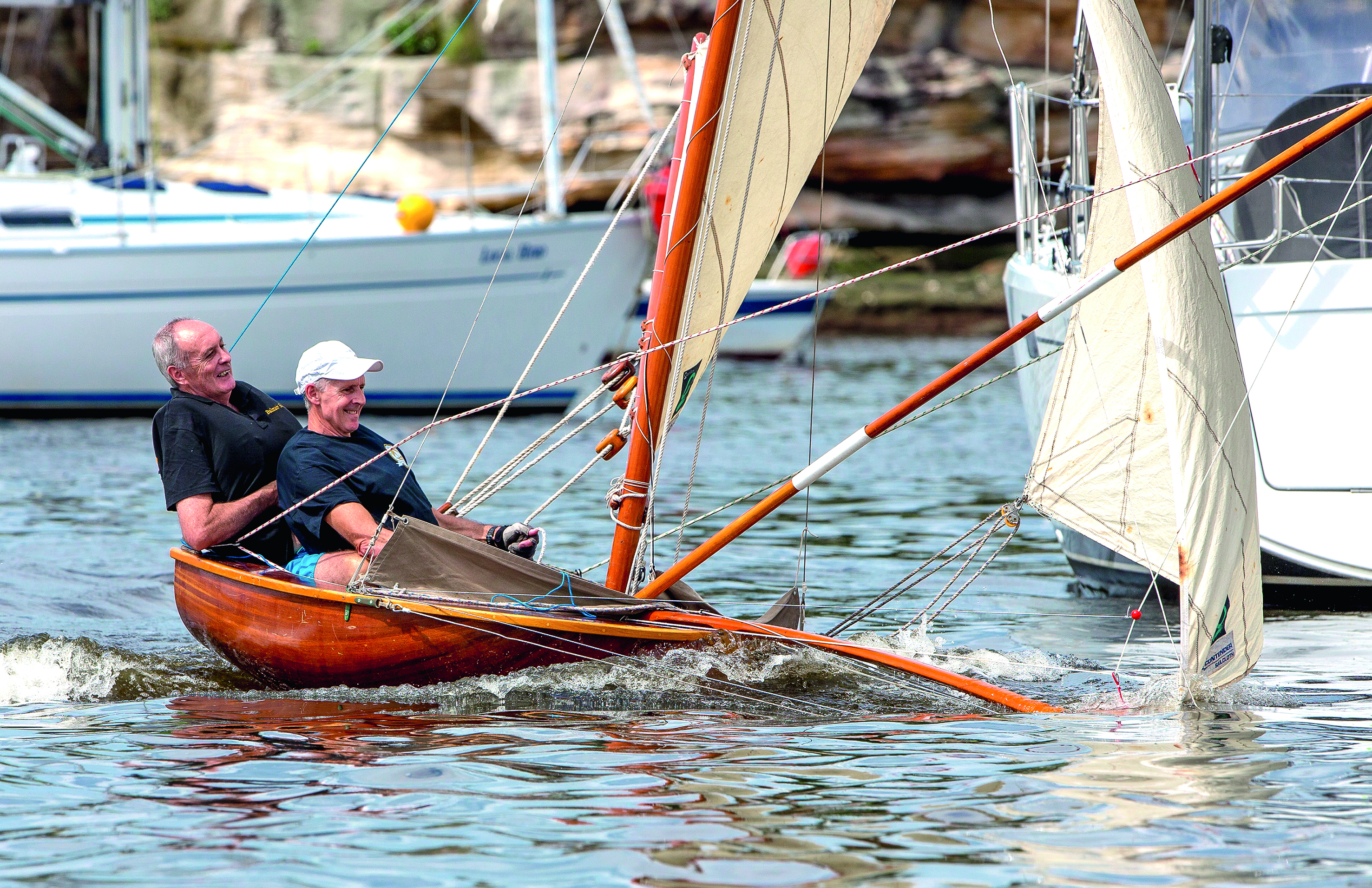 Balmain Bug: the tiny classic skiff that's too much sail and not enough boat