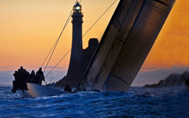 Ran rounding Fastnet Rock. Photo: Kurt Arrigo/Rolex