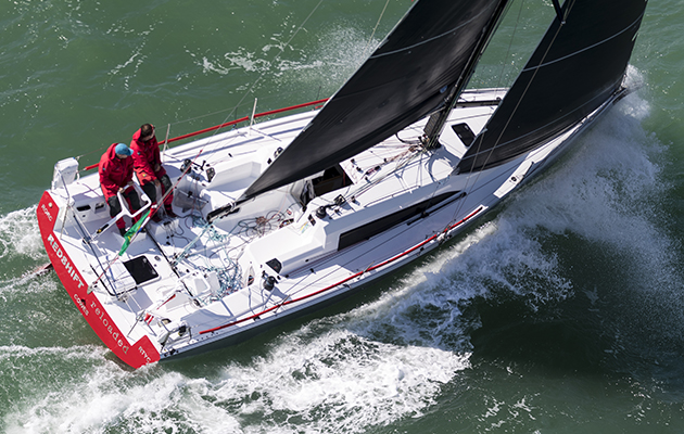 Race Start - Redshift Reloaded, Sail No: GBR 419, Class: IRC Three, Owner: Ed Fishwick, Type: Sun Fast 3600