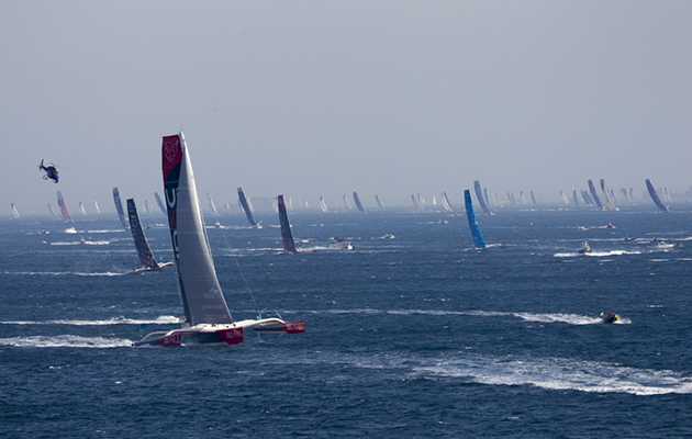 Record fleet sets off for 40th Route du Rhum, with 40-knot