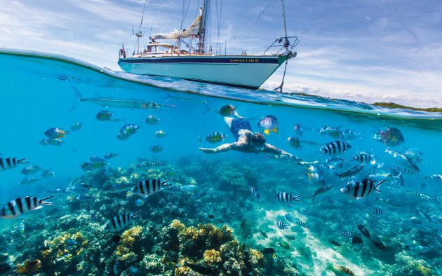 The dream of turquoise waters is threatened by plastic pollution. Photo: Tor Johnson