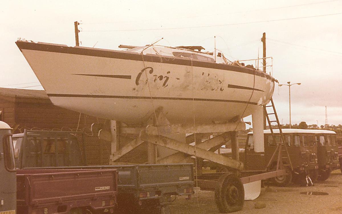 fastnet-race-1979-grimalkin-recovered-exterior-new-ross-customs-compound-ireland-credit-matt-sheahan