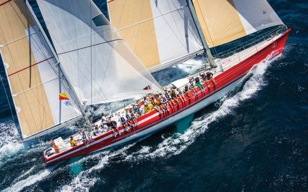 Steinlager 2, now owned by the New Zealand Sailing Trust, won every leg of the 1989-1990 Whitbread Round the World Race. Photo: Jeff Brown / Breed Media