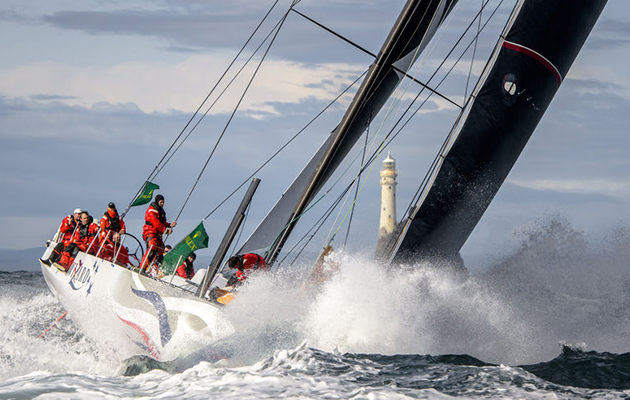 Wizard, Sail no: USA70000, Class: IRC Zero, Owner: David and Peter Askew, Sailed by: Charlie Enright, Type: Volvo Open 70