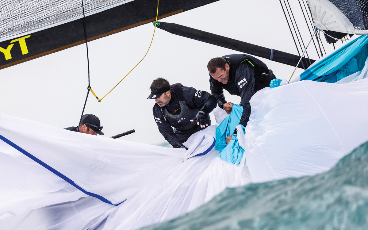 Retrieving a spinnaker: 5 tips on how to haul in your dropped kite