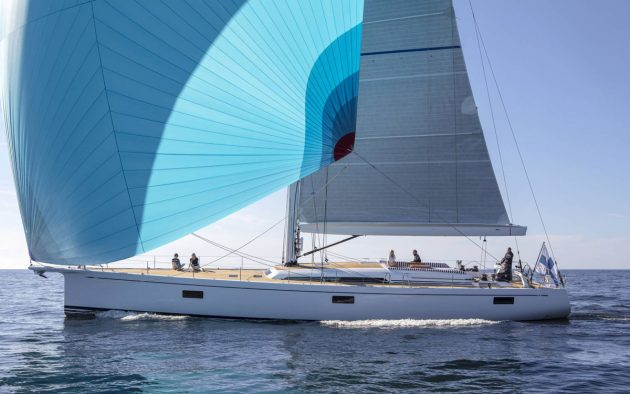 Mike skippers a Swan 78 fitted with forward-facing sonar. Photo: Nautor's Swan