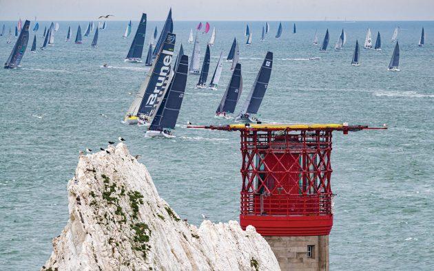 fastnet-race-2019-starting-fleet-needles-credit-carlo-borlenghi