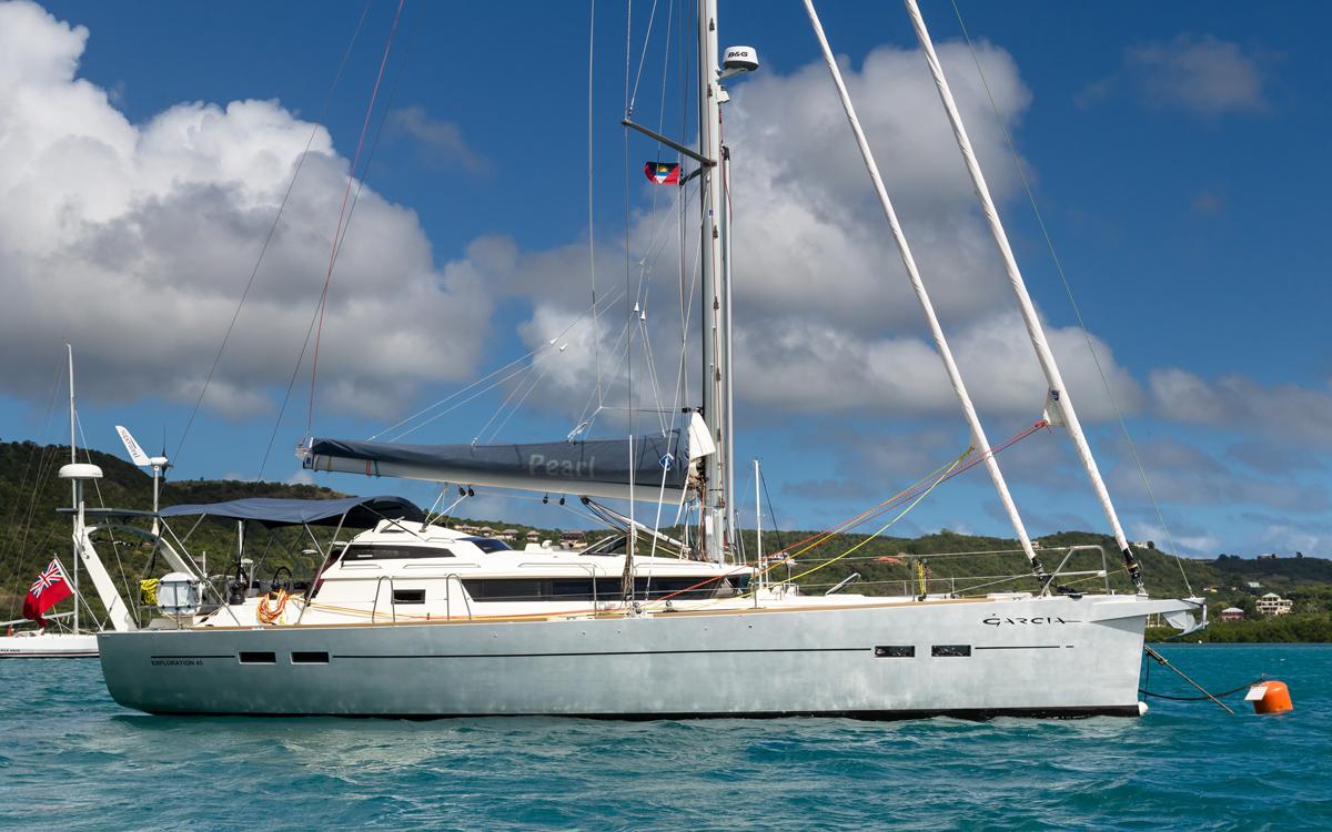 Pete-goss-transatlantic-crossing-garcia-exploration-45-pearl-moored-credit-jason-pickering