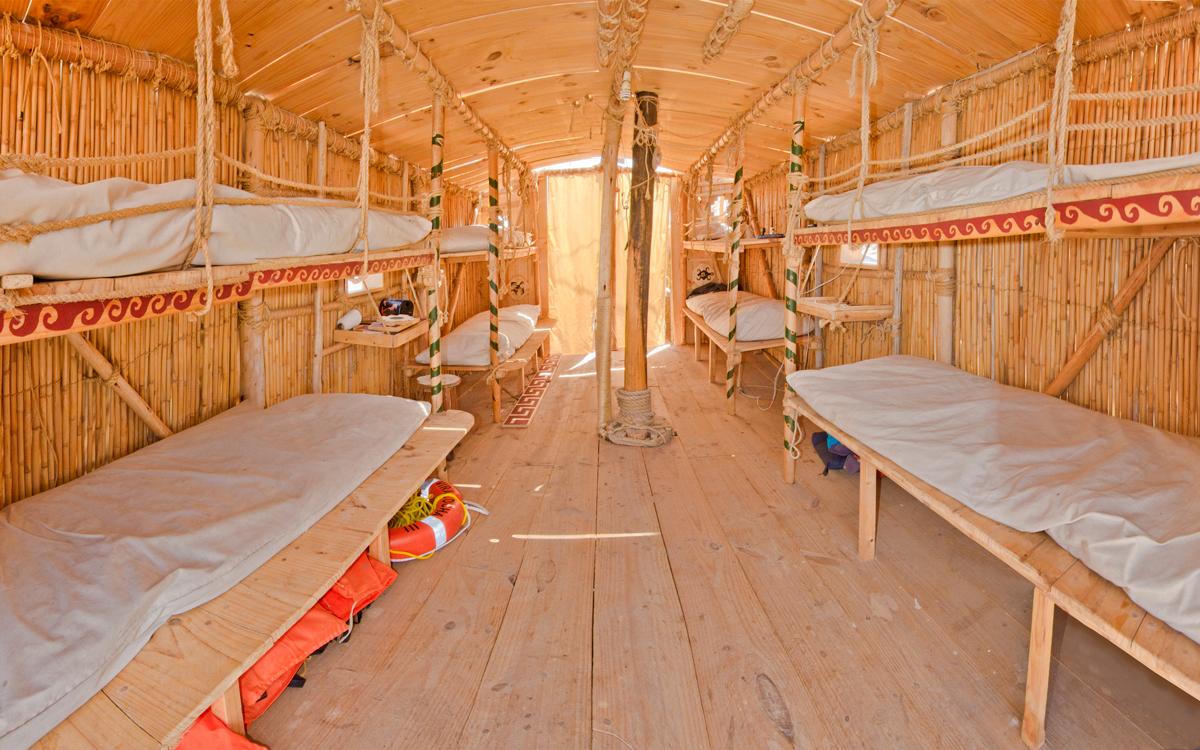 Viracocha-III-chilean-reed-boat-cabin-credit-andrew-dare