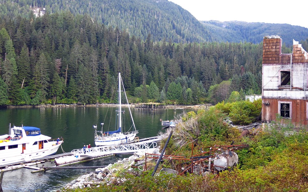 cruising-british-columbia-canada-wild-west-Butedale-dock-credit-suzy-carmody