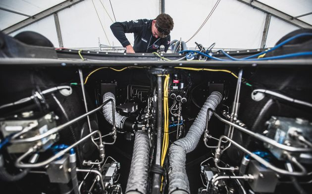 Data from the AC75's complex systems will have a built-in time delay to prevent 'autopilot' sailing by  the crew. Photo: Harry KH / Ineos Team UK