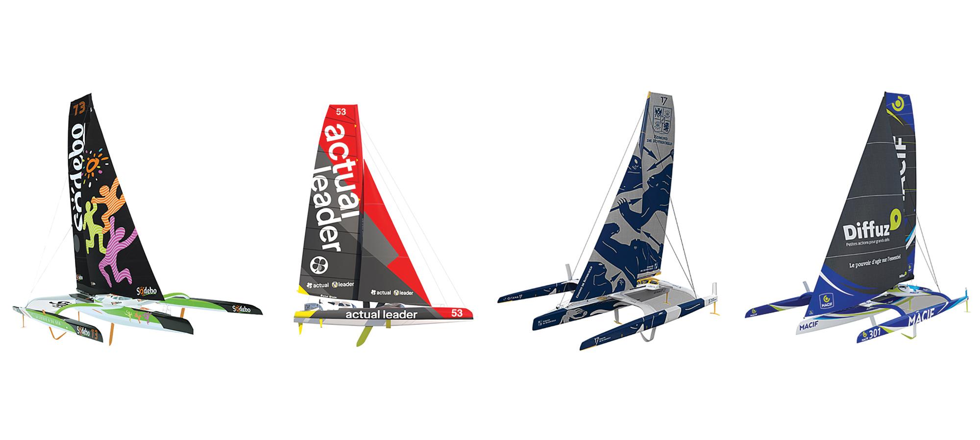 brest-atlantiques-trimaran-race-fleet