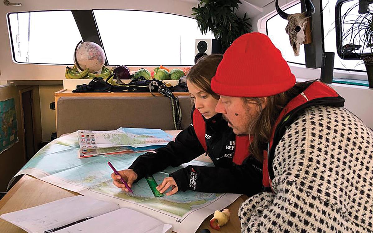 greta-thunberg-atlantic-sailing-la-vagabonde-father-svante-navigation-credit-nikki-henderson