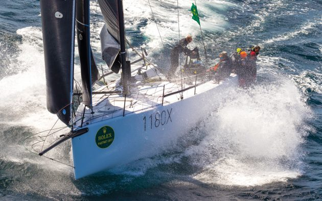 Staysails really come into their own during long periods of strong winds, such as the Fastnet Race. Photo: Carlo Borlenghi / Rolex