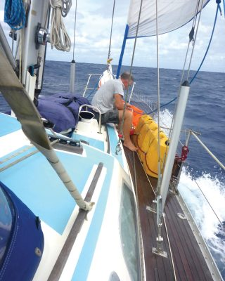 fiji-to-new-zealand-tradewinds-sailing-zoonie-oyster-406-rob-white-foredeck
