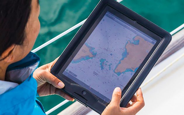 Handheld tablets can provide a wealth of easily accessible navigation information – as long as you're aware of their limitations. Photo: Tor Johnson
