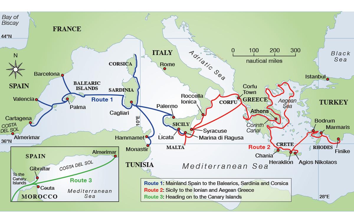 carte-de-voile-méditerranée