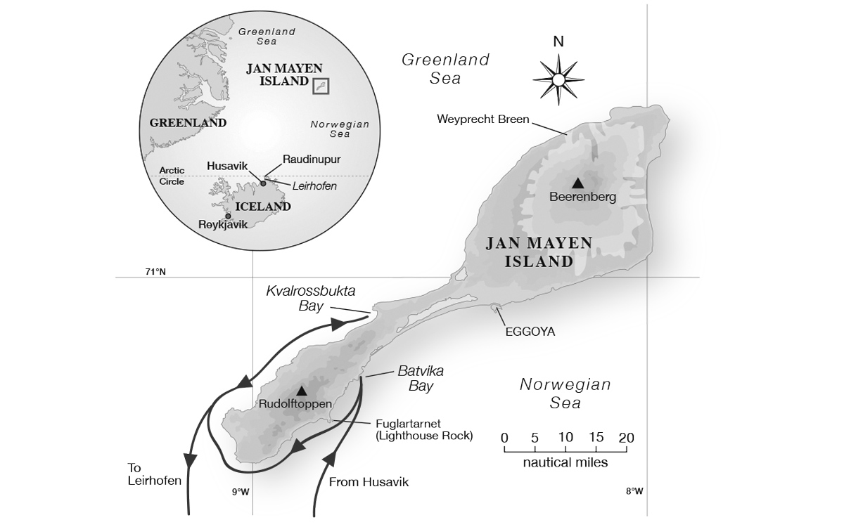 sailing-Jan-Mayen-island-map