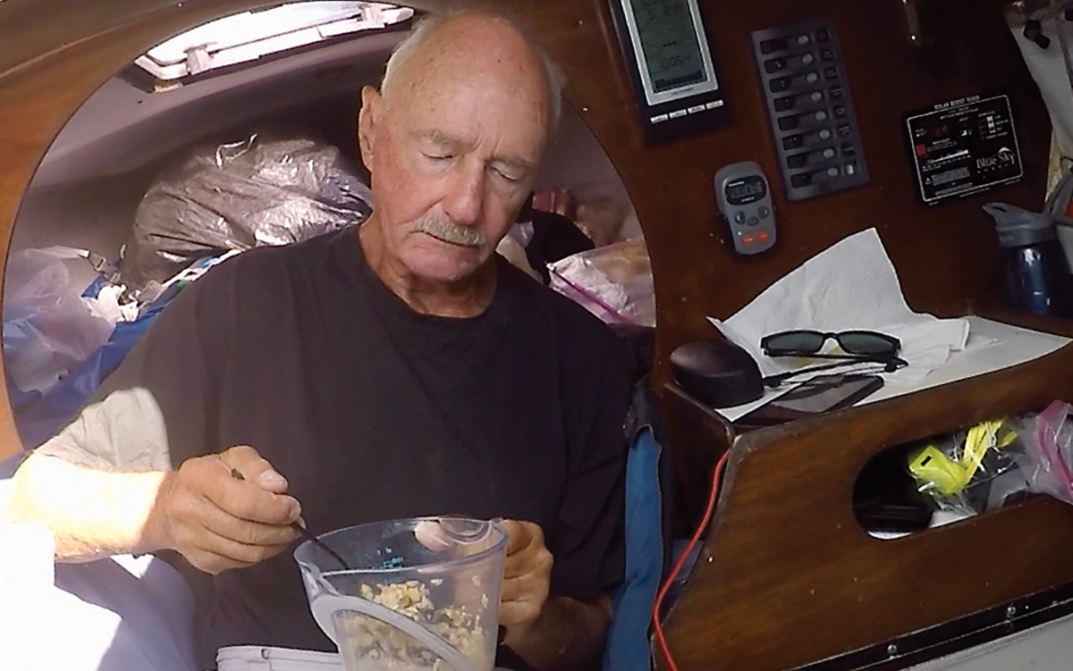 solo-pacific-sailing-webb-chiles-gannet-breakfast
