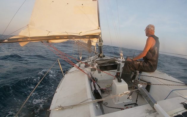 Webb Chiles's Gannet is a George Olson-designed Moore 24, a long-distance race-winning ultralight yacht built in the US