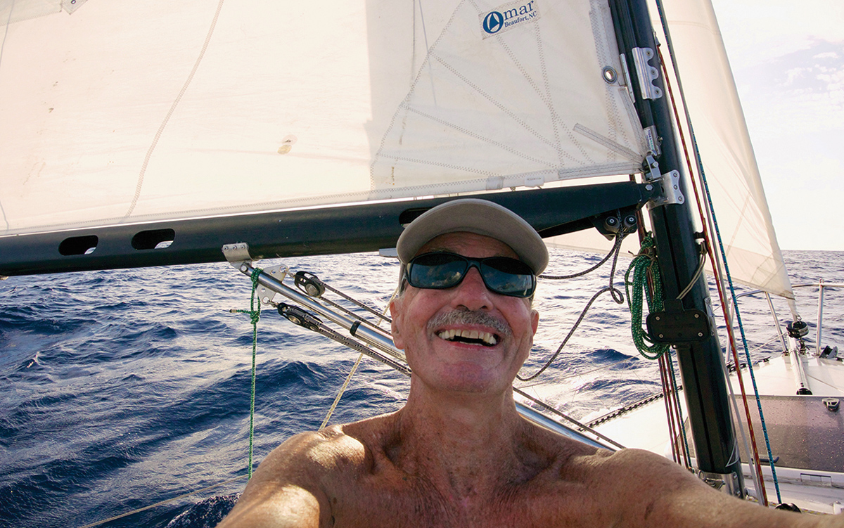 solo-pacific-sailing-webb-chiles-gannet-selfie