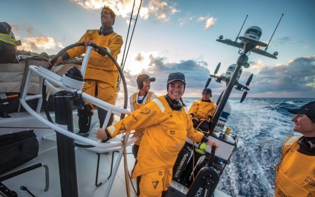 Dee Caffari built a cohesive team from a multinational crew on Turn The Tide on Plastic. Photo: Jeremie Lecaudey / Volvo Ocean Race