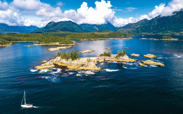 Keala navigates the rocky entrance to the Bunsby Islands, on Vancouver Island's west coast. All photos: Tor Johnson