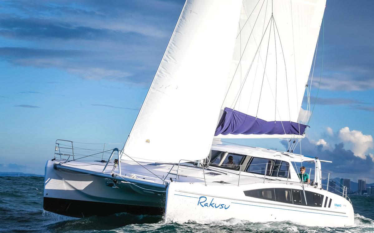 Seawind-1260-new-catamaran-yachts-bow-running-shot-credit-Salty-Dingo