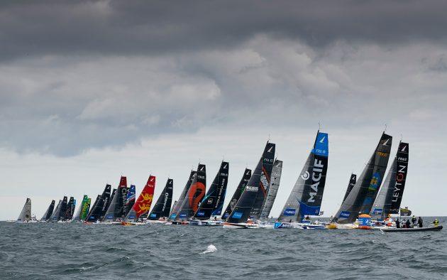The Figaro Series fleet makes an impressive sight at the start. Photo: Yvan Zedda