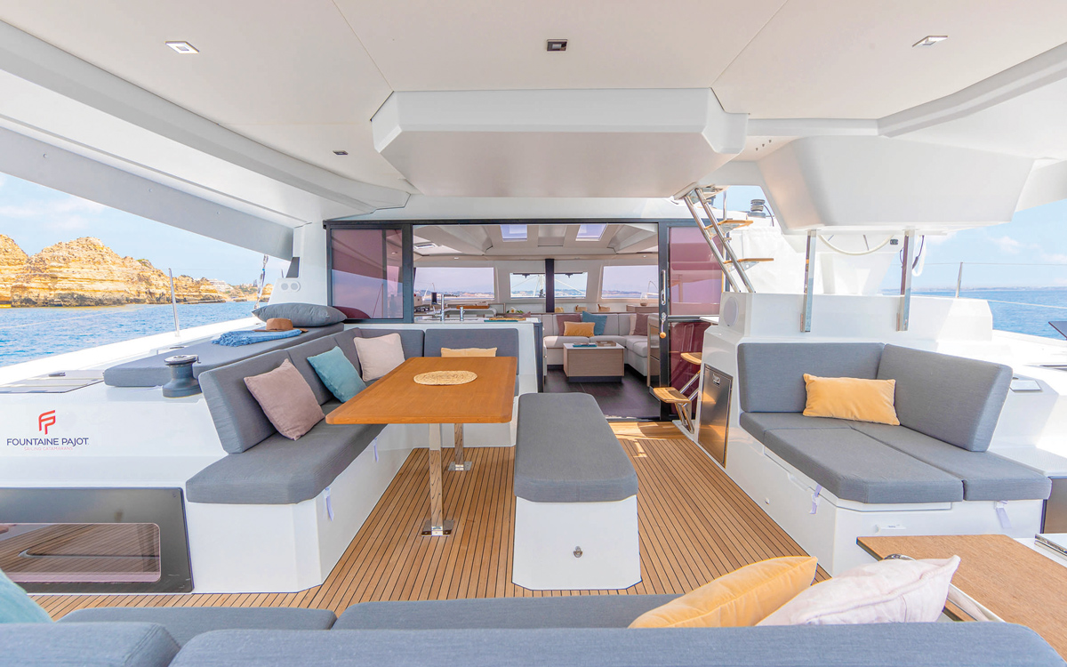 fountaine-pajot-45-catamaran-yacht-review-cockpit-credit-Gilles-Martin-Raget