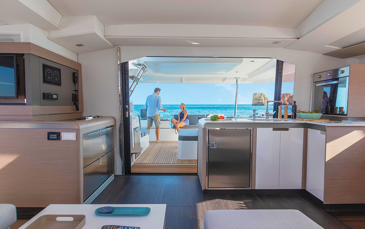 fountaine-pajot-45-catamaran-yacht-review-galley-credit-Gilles-Martin-Raget