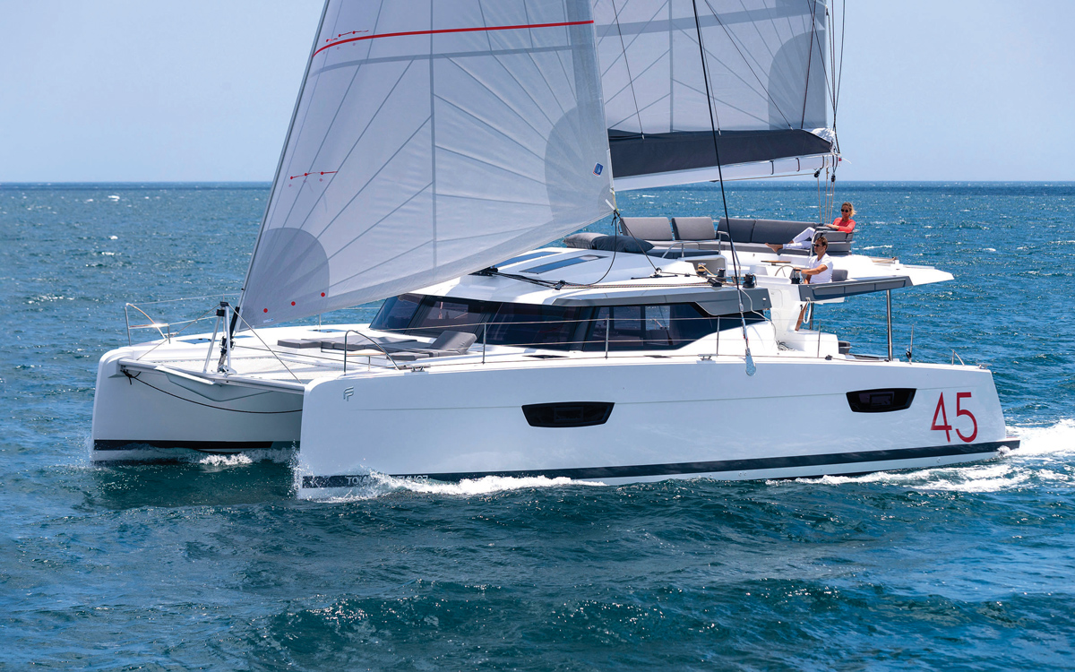 fountaine-pajot-45-catamaran-yacht-review-running-shot-credit-Gilles-Martin-Raget