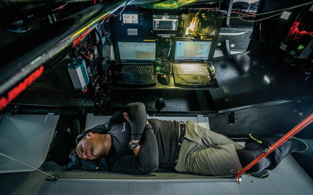 Severe lack of sleep can cause hallucinations, either visual or aural. Solo skipper Jérémie Beyou reports hearing a whistling noise if overtired. Photo: James Blake/Volvo Ocean Race
