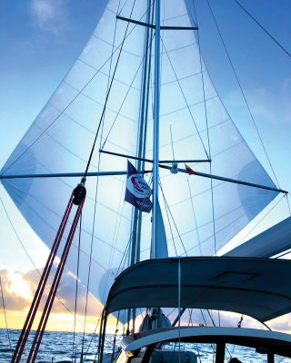 2019-arc-survey-sail-handling-double-poled-Blue-Water-Runner-Hallberg-Rassy-48-Jan-credit-Giorgio-Aru