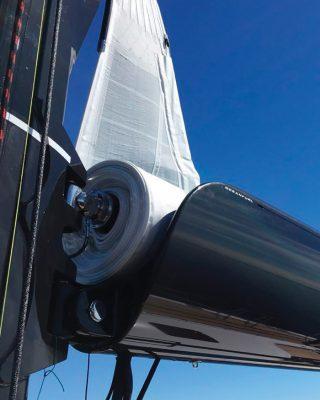in-boom-furling-sailing-technology-Gooseneck-Hall-Spars-Oceanfurl-system