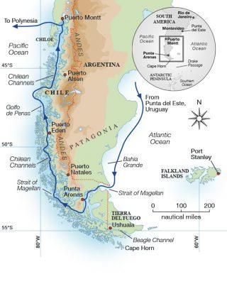 magellan-strait-superyacht-pumula-cruise-map