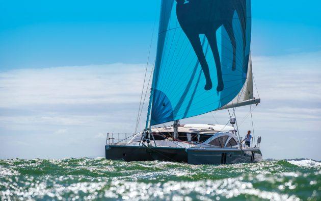 Discovery-Bluewater-50-catamaran-boat-test-running-shot-credit-Richard-Langdon-Ocean-Images